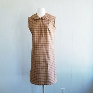 1950s Unlabeled Plaid Dress